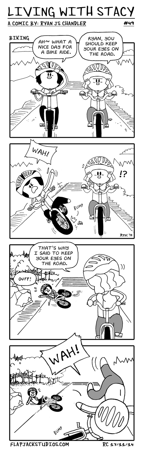 Living With Stacy #49 Biking Ryan and Stacy top comics Cute and Adorable