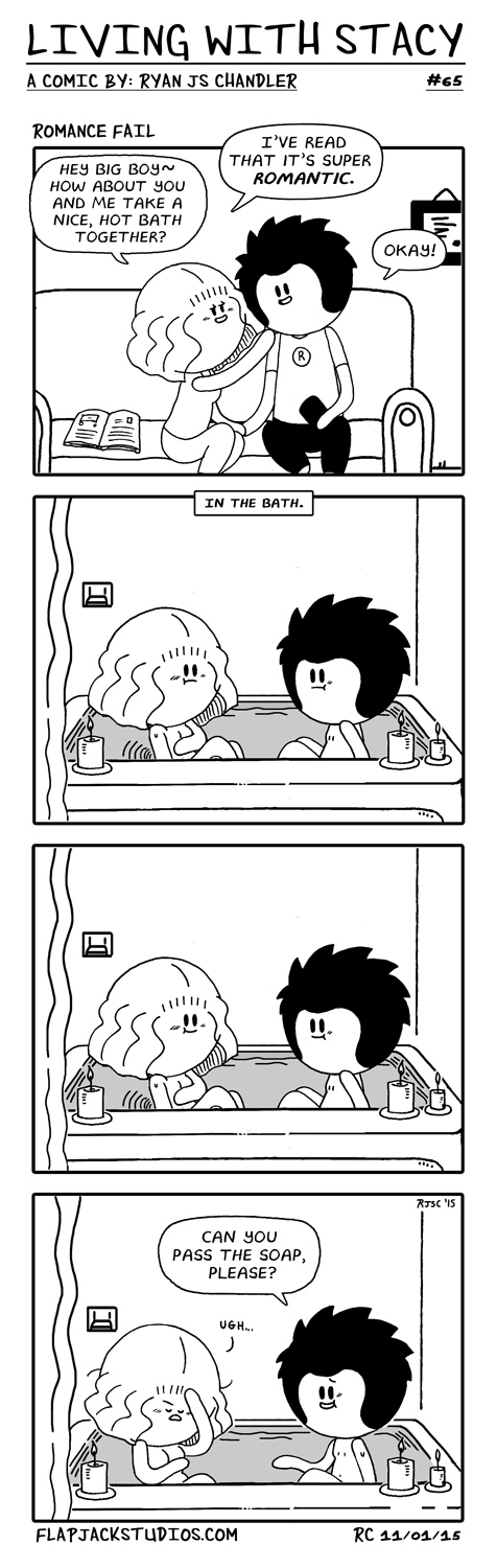 Living With Stacy #65 romance fail Ryan and Stacy topwebcomics Cute and Adorable