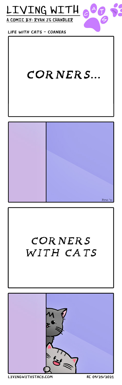Life With Cats - Corners - LWS Comic #240